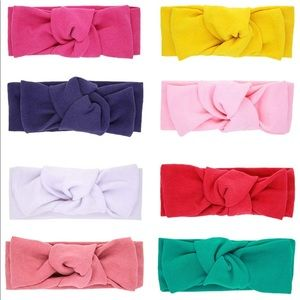 8pc Bundle- Knotted Turban Headbands for Baby Girl